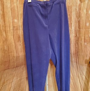 Jennifer Moore Collection Violet Pants Sz 16 NWT